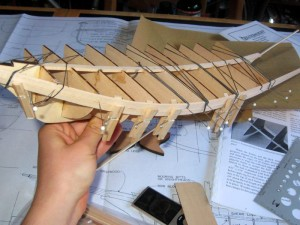 construccion maqueta de barco