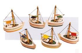 Mini boats 8 x 8 x 3,5cm