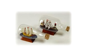 Ship in bottle 10cm length