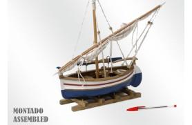 Sailing and rowing Llaüt