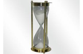 horloge de sable en laiton