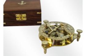 Quadrante solar - caixa de madeira