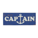 "Placa madera ""captain"""