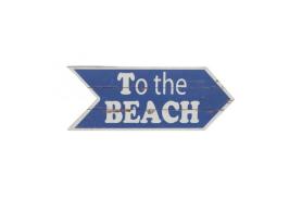 """Placa de madeira """"para a praia"""""""