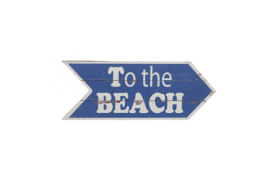 "Placa madera ""to the beach"""