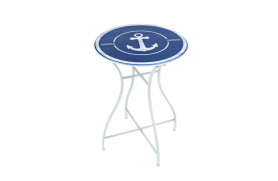Round table with anchor