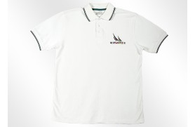 Klassischer Poloshirt weiss
