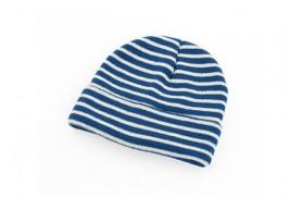 Mütze mit blauen Streifen