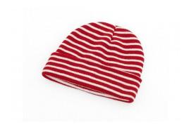 Mütze mit roten Streifen