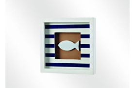 "Tabela marinho ""peixe"" azul"