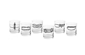 Set 6 glasses with knots
