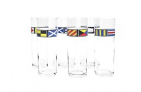 Set 6 glasses of flags
