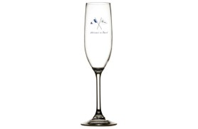 Set 6 Champagne glass WELCOME ONBOARD