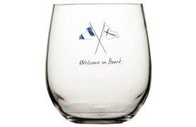 Set 6 Water glass WELCOME ONBOARD