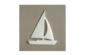 Picture sailboat beige