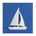 Cuadro velero azul