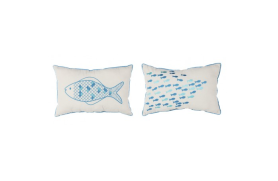 Kissen Paar Fisch