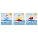 12 Magnets sailboat picture