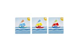 12 imãs quadro veleiro