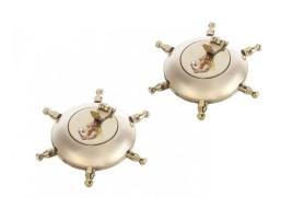 2 Brass ashtray