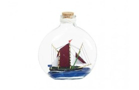 6 Schiffe in Flaschen