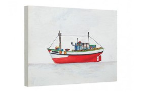Óleo de pintura de barco marinha