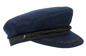 Chapeau Navy De Chiffon