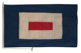 """Bandeira """"Letra W"""""""