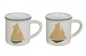 Set 4 Mug sailboat