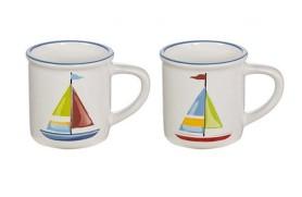 Set 4 Mug sailboat