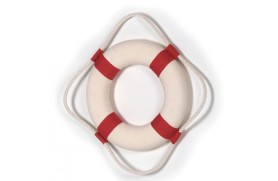 DECORATIVE RED LIFEBUOY