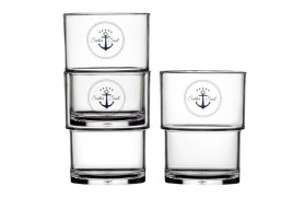 Set 12 Stackable glass SAILOR
