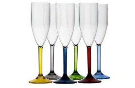 Set 6 champagne glass PARTY