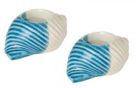 2 Conch candelholder