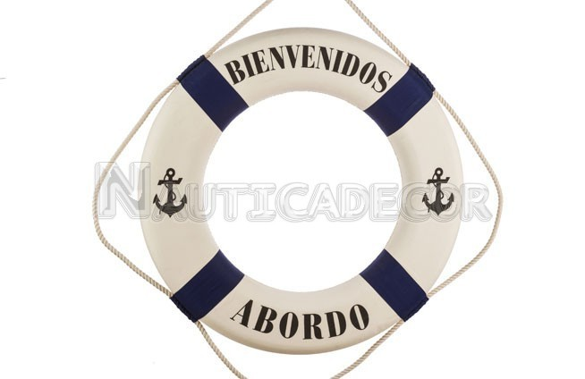 "Life Ring BLUE STRIPE ""Welcome onboard"