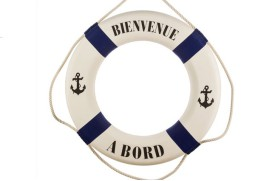 "FLOATER BLUE STRIPE ""Welcome onboard"