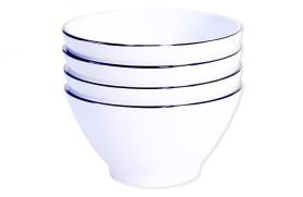 Set 4 Bowls Line Blue