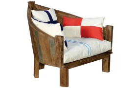 Armchair with cushions.