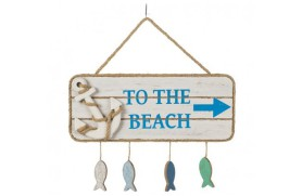 """To the Beach"" wooden plate"