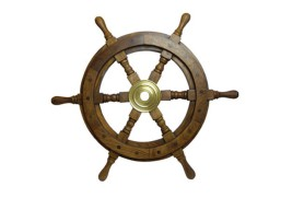 DECORATIVE SHIP'S WHEEL 90 CM
