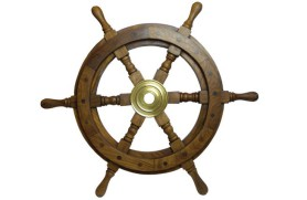 DECORATIVE SHIP'S WHEEL 110 CM
