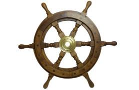 DECORATIVE SHIP'S WHEEL 110 CM