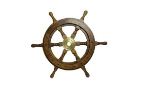 DECORATIVE SHIP'S WHEEL DIA 63 CM