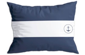 "2 blue ""Flags"" cushions"