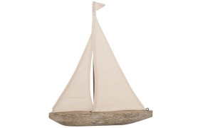 Carved sailboat
