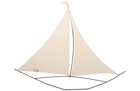 Wall-mounted sailboat