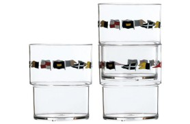 Set 12 Stackable glass REGATA