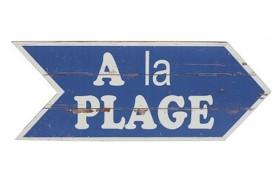 """Wooden plate """"A la Plage"""""""