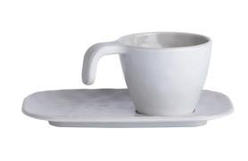 Set 6 Coffee cups Bone