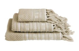 Anchor Towel Set - Beige